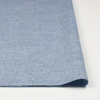 ウール&コットン×無地(サックス)×起毛シャンブレー_全3色 サムネイル3