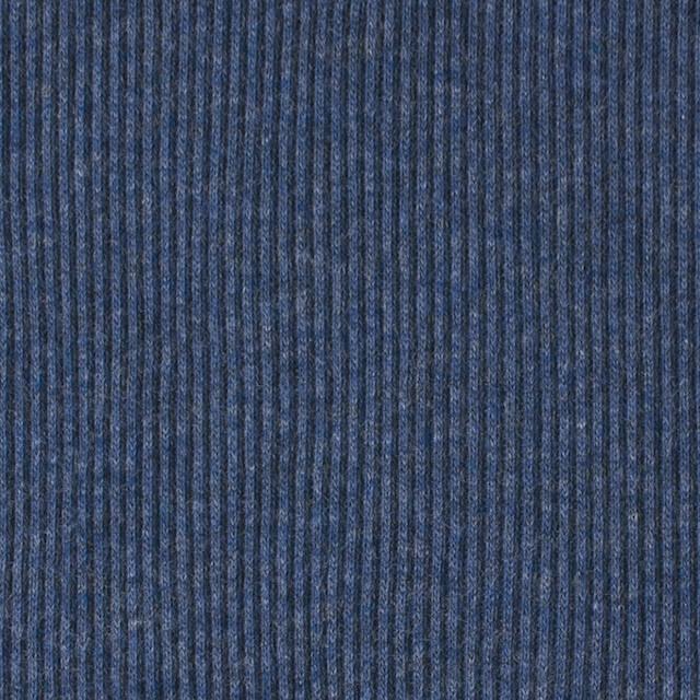 コットン×無地(アイアンブルー)×丸編みリブニット_全3色 イメージ1