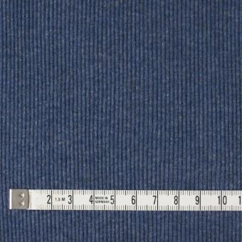 コットン×無地(アイアンブルー)×丸編みリブニット_全3色 サムネイル4