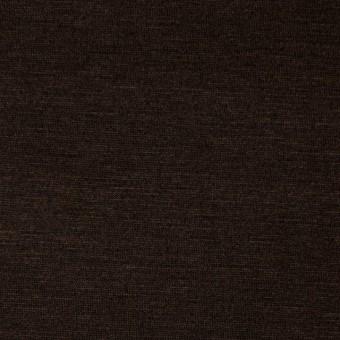 コットン&リヨセル混×無地(ダークブラウン)×天竺ニット_全4色
