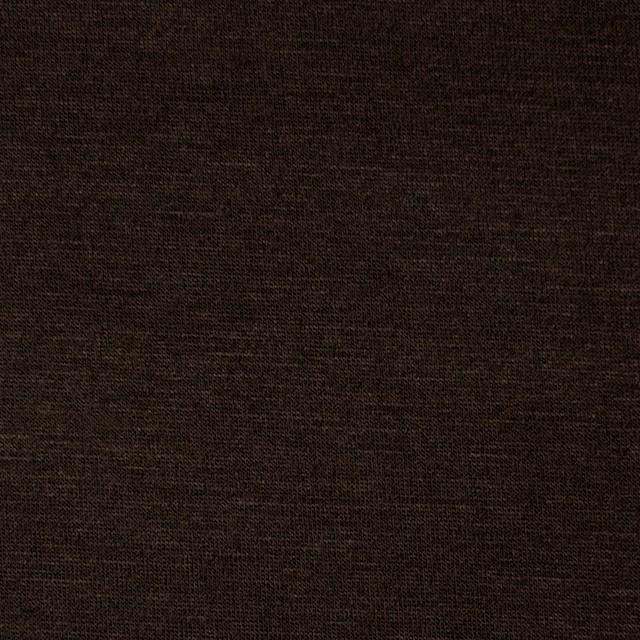 コットン&リヨセル混×無地(ダークブラウン)×天竺ニット_全4色 イメージ1
