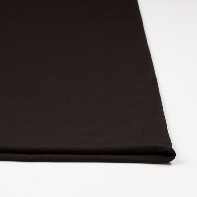 コットン&リヨセル混×無地(ダークブラウン)×天竺ニット_全4色 イメージ3