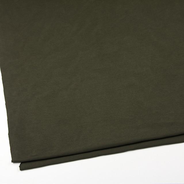コットン&リヨセル混×無地(カーキグリーン)×天竺ニット_全4色 イメージ2