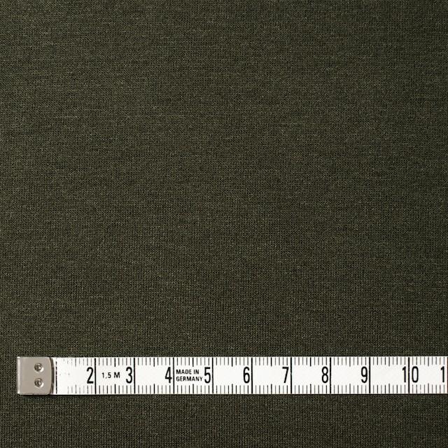コットン&リヨセル混×無地(カーキグリーン)×天竺ニット_全4色 イメージ4
