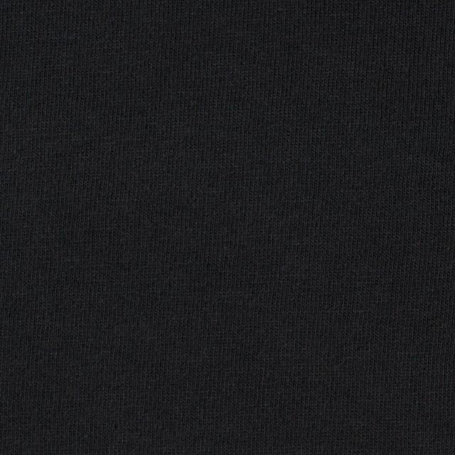 コットン×無地(ブラック)×天竺ニット イメージ1