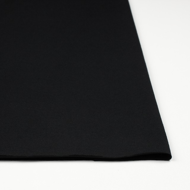 コットン×無地(ブラック)×天竺ニット イメージ3