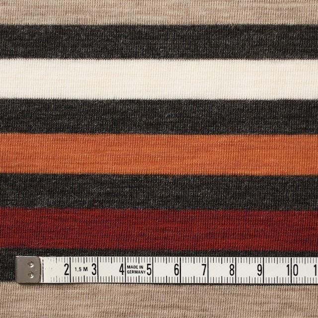 ウール&アクリル×ボーダー(オレンジ&レッド)×フライスニット_全3色 イメージ4