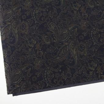 ポリエステル&ポリウレタン×ペイズリー(チャコールブラック)×スエードかわり織ストレッチ_全2色 サムネイル2