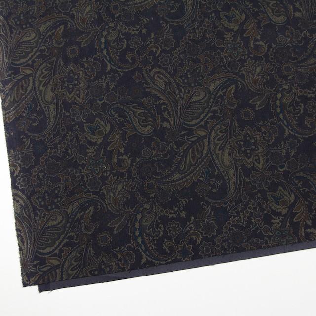 ポリエステル&ポリウレタン×ペイズリー(チャコールブラック)×スエードかわり織ストレッチ_全2色 イメージ2