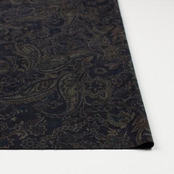ポリエステル&ポリウレタン×ペイズリー(チャコールブラック)×スエードかわり織ストレッチ_全2色 サムネイル3