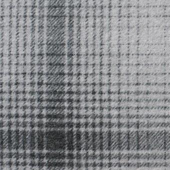 コットン×チェック(グレー)×フランネル_全2色