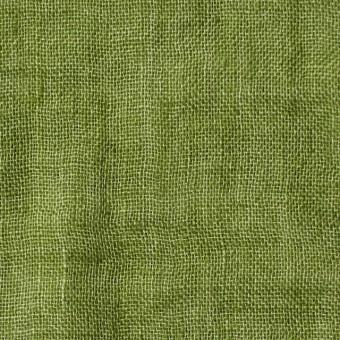 リネン×無地(グリーン)×ガーゼ_全5色_イタリア製