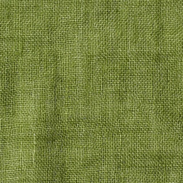 リネン×無地(グリーン)×ガーゼ_全5色_イタリア製 イメージ1