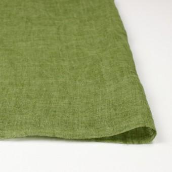 リネン×無地(グリーン)×ガーゼ_全5色_イタリア製 サムネイル3