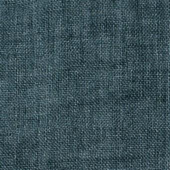 リネン×無地(バルビゾンブルー)×ガーゼ_全5色_イタリア製
