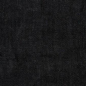 リネン×無地(ブラック)×ガーゼ_全5色_イタリア製