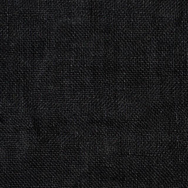 リネン×無地(ブラック)×ガーゼ_全5色_イタリア製 イメージ1