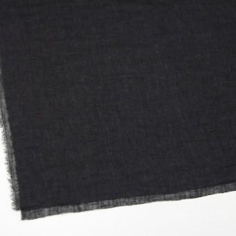 リネン×無地(ブラック)×ガーゼ_全5色_イタリア製 サムネイル2
