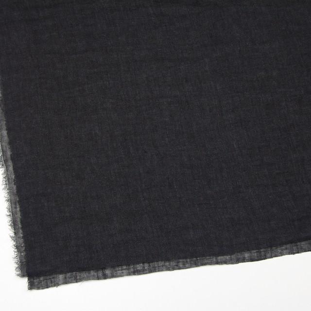 リネン×無地(ブラック)×ガーゼ_全5色_イタリア製 イメージ2