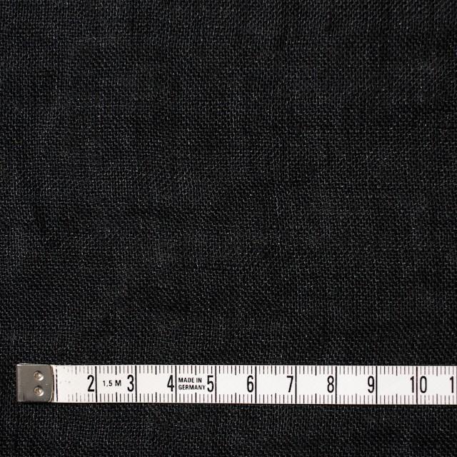 リネン×無地(ブラック)×ガーゼ_全5色_イタリア製 イメージ4