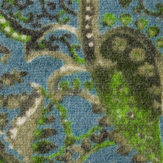 ウール&ナイロン混×ペイズリー(ブルーグレー)×天竺ニット_全2色 イメージ1