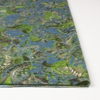 ウール&ナイロン混×ペイズリー(ブルーグレー)×天竺ニット_全2色 サムネイル3