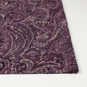 ポリエステル×ペイズリー(パープル)×ジョーゼット刺繍_全2色 サムネイル3