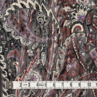 ポリエステル×ペイズリー(チャコール)×ジョーゼット刺繍_全2色 サムネイル4