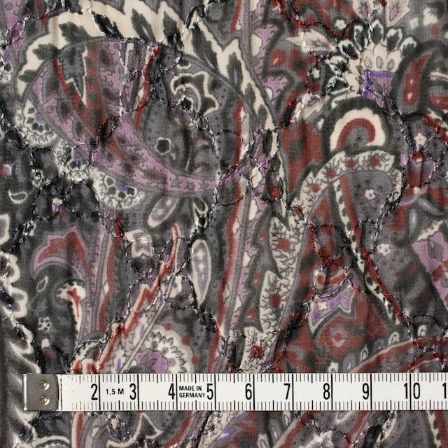 ポリエステル×ペイズリー(チャコール)×ジョーゼット刺繍_全2色 イメージ4