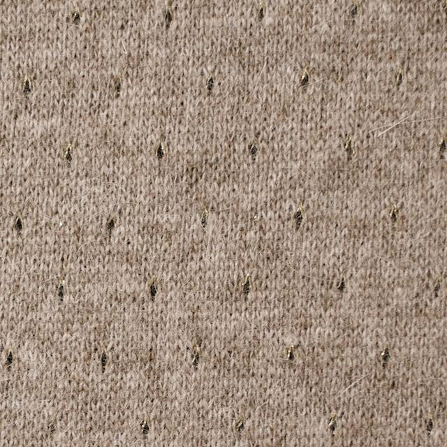 ウール&ナイロン混×無地(ベージュ)×天竺ニット_全2色 イメージ1