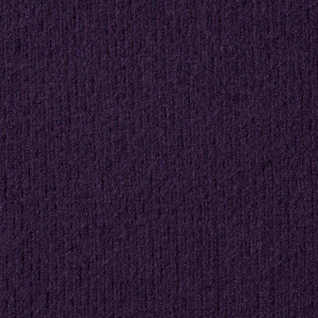 ウール×無地(パープル)×圧縮リブニット_全8色 イメージ1