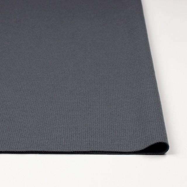ウール×無地(ストームグレー)×圧縮リブニット_全8色 イメージ3