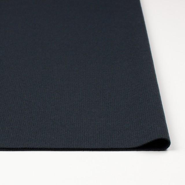 ウール×無地(チャコールグレー)×圧縮リブニット_全8色 イメージ3