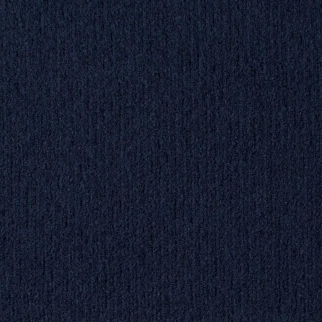 ウール×無地(ネイビー)×圧縮リブニット_全8色 イメージ1