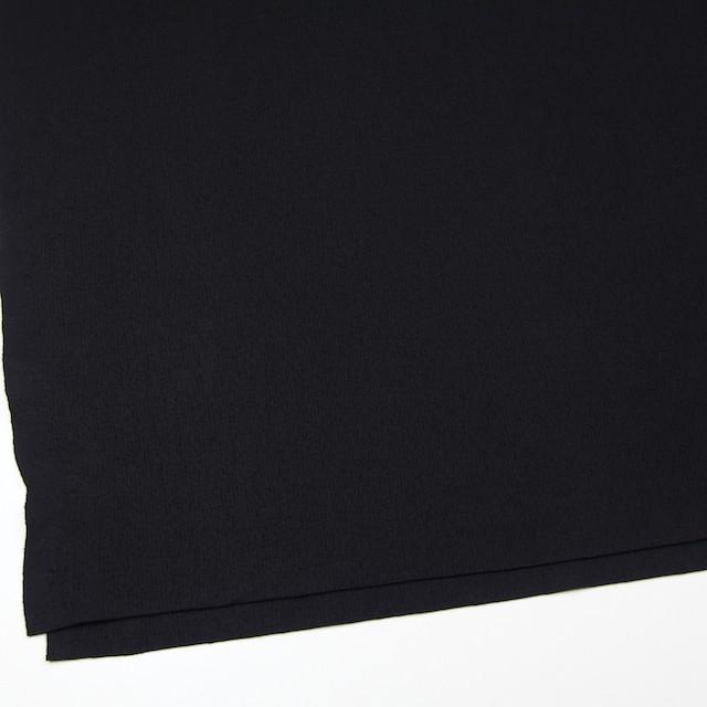 ウール×無地(ブラック)×圧縮リブニット_全8色 イメージ2