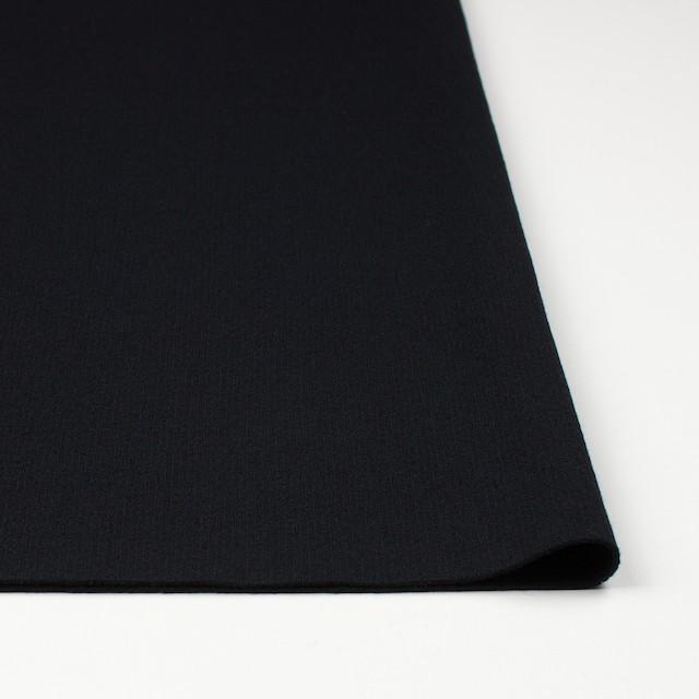 ウール×無地(ブラック)×圧縮リブニット_全8色 イメージ3