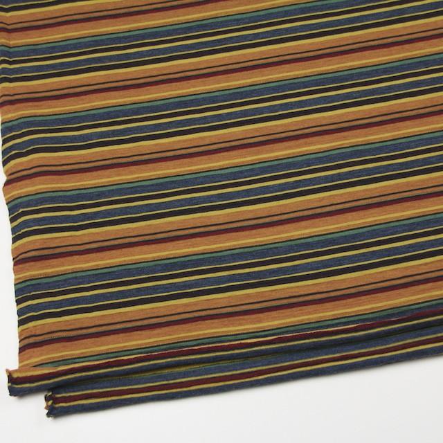 ウール&アクリル×ボーダー(オレンジ&ブルーグレー)×天竺ニット_全2色 イメージ2