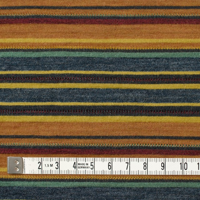 ウール&アクリル×ボーダー(オレンジ&ブルーグレー)×天竺ニット_全2色 イメージ4