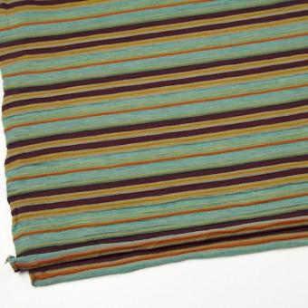 ウール&アクリル×ボーダー(ミント&パープル)×天竺ニット_全2色 サムネイル2