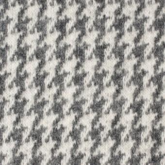 ウール&アンゴラ×チェック(グレー)×ジャガードニット サムネイル1
