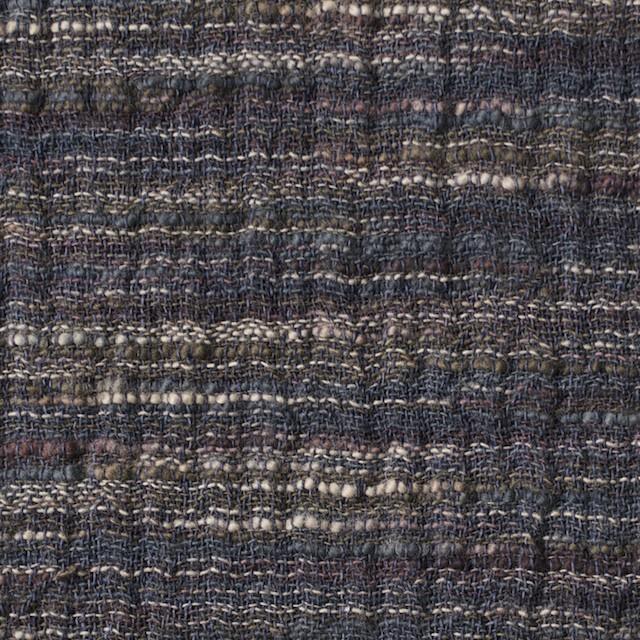 コットン&ポリエステル×ミックス(ブルーグレー)×Wガーゼ_全2色 イメージ1