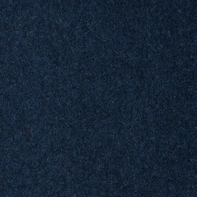 ウール×無地(ミッドナイトブルー)×フラノ(フランネル) イメージ1