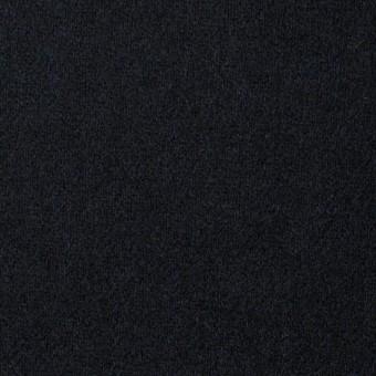 ウール&ポリウレタン×無地(ブラック)×フラノ(フランネル)