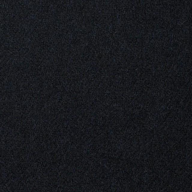 ウール&ポリウレタン×無地(ブラック)×フラノ(フランネル) イメージ1