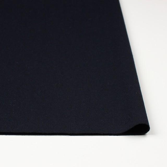 ウール&ポリウレタン×無地(ブラック)×フラノ(フランネル) イメージ3