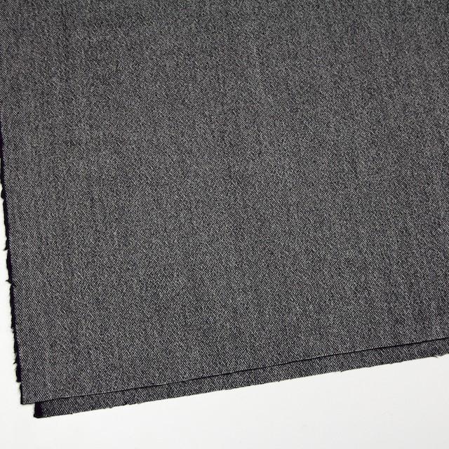 ウール&ポリエステル混×無地(ブラック)×ツイードストレッチ イメージ2
