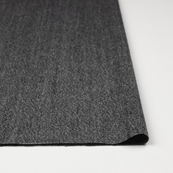 ウール&ポリエステル混×無地(ブラック)×ツイードストレッチ サムネイル3