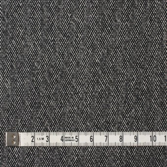 ウール&ポリエステル混×無地(ブラック)×ツイードストレッチ サムネイル4