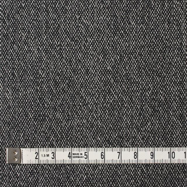 ウール&ポリエステル混×無地(ブラック)×ツイードストレッチ イメージ4