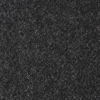 ウール&ポリウレタン×無地(チャコールブラック)×ツイードストレッチ